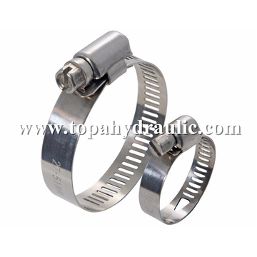 stainless steel hydraulic pipe American hose clamp