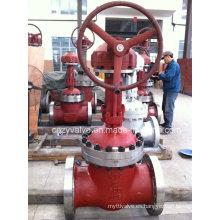 Válvula de compuerta de brida de engranaje cónico de alta presión