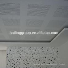 Placa de gesso suspenso perfurada, placa de gesso, teto do Drywall para a venda