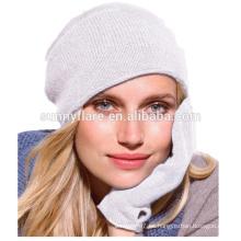 Sombreros y guantes al por mayor de la gorrita tejida del invierno del punto de la cachemira de la alta calidad al por mayor