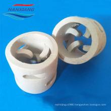 Ceramic tower random packing 50mm ceramic pall ring