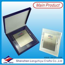Акриловая металлическая пластина наградная стендовая табличка с подарочной коробкой