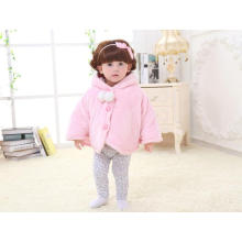 Nature Color Newborn Baby Cloak Clothes with Coral Fleece / Kitty