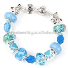 Presente de Natal Handmade DIY Murano Glass Beaded Bracelet