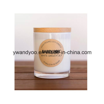 Fruit Scented Soy Glass Jar Candles with Lid