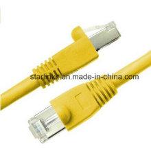 10g CAT6A Snagless patch cabo com 50u RJ45 amarelo