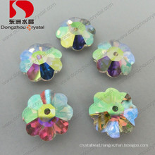 Flower Shape Sew on Rhinestones with Flat Back & Foiled Back