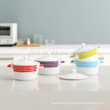Microwave safe ceramic casserole set