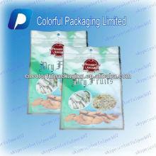 Embalaje de almendra de California / frutas secas ziplock Bolsa de embalaje / bolsas de plástico de grado alimenticio ziplock