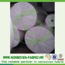 Material de PP Spunbonded de tela no tejida blanca en rollo