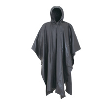 black Color PVC Adult Rain Ponchos