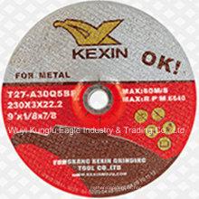 "Rueda abrasiva de la resina / disco de pulido para el metal 9 ""230X3X22.2mm"