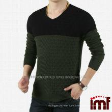 2014 el más hermoso suéter con cuello en V suéter para hombres