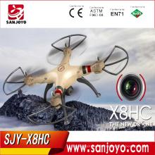 ¡CALIENTE Y NUEVO! X8HC 4-CH Syma 2.4GHz 6 ejes gyro RC Quadcopter Drone con cámara de 2.0MP Presión de aire automática PK X8 SJY-X8HC