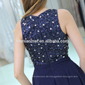 2017 neue Mode westlichen Party tragen Ballkleid sleeveless Perlen royalblau unregelmäßigen Abendkleid