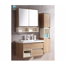 "32"" Double Sink Bathroom Vanity Set Floating Bath Cabinet With mirror and shelf"
