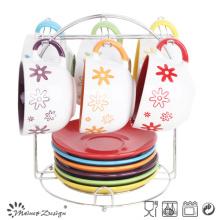 Merry Christmas Holiday Season 8oz Cups and Saucers
