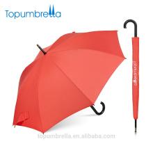 Topumbrella novo design impermeável senhoras moda publicidade automática guarda-chuva reto