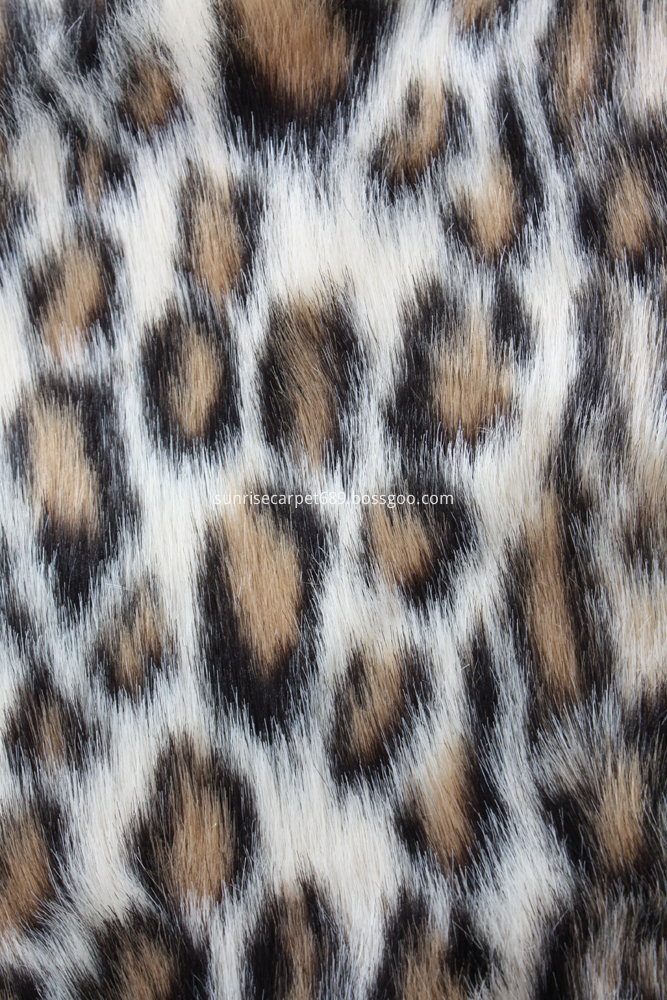 Imitation Fur with Leopard design