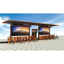 Refugio para bicicletas al aire libre