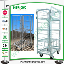 Chariot logistique pliable de lait en métal d'entrepôt