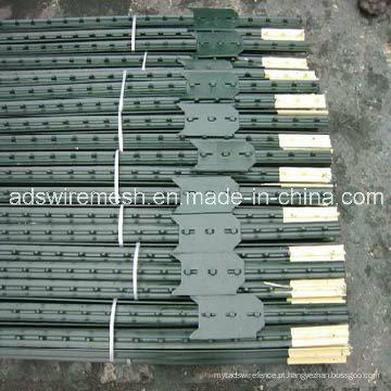 Poste de cerca T cravejado, 1,25 lbs / Ftx5,5fts