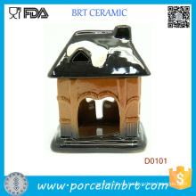 Pot House Shape Design - Quemador de aceite de cerámica