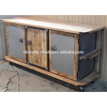 Industrial Urban Loft Sideboard Rough Mango Wood