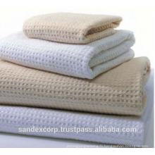 serviette de bain gaufrée