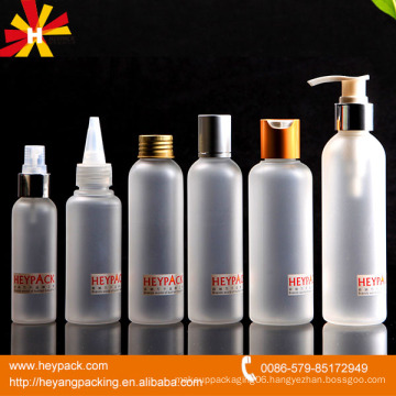 Various sizes frost plastic bottle