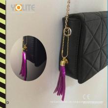 Reflektierende Quaste, reflektierender Handy-Aufhänger, reflektierender Taschen-Aufhänger mit CER En13356