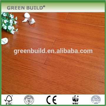 Red smooth teak solid wooden flooring