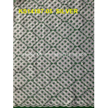 2015 Best Selling African Cord Lace Fabric, Cupion Lace