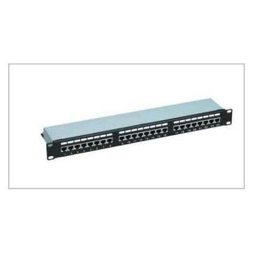 1U 24 portar CAT6 patch panel
