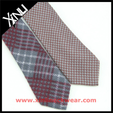 2015 Winter Brown Plaid Mens Silk Ties with Wool Blended Men's Ties