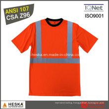 ANSI107 Custom Reflective Round Neck safety Tee Shirt