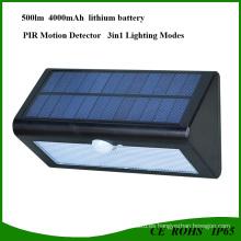 Luz LED solar brillante de 36 LED con sensor PIR para garaje
