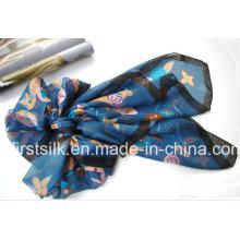 Écharpe en soie à imprimé numérique