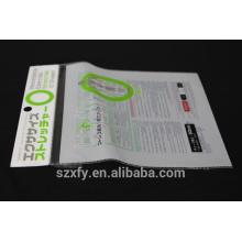 Bolsa de plástico autoadhesiva con cabezal e impresión