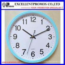 Голубая рамка 12 дюймов круглые пластичные часы стены (EP-101)