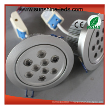 Luminosité hygiénique / haute qualité / lumens haute lumière LED Downlight