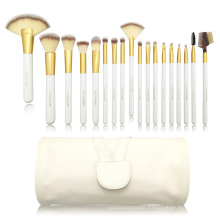 18pc Professional Essential brush with white PU bag