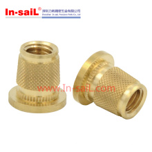 Brass Micro rosca de inserção roscada de plástico