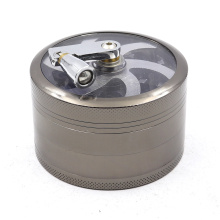 Hand-operated spiral cigarette grinder four layers