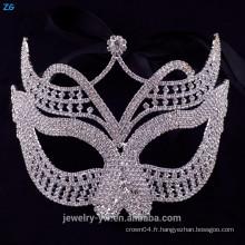 Masque de visage sexy en cristal de haute qualité, masque de mascarade avec cristaux