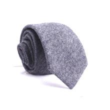 Concevez vos propres cravates en tweed à chevrons de mélange de laine en gros en gros