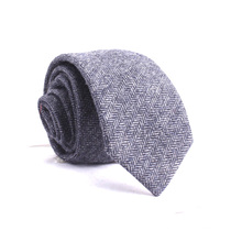 Design Your Own Wholesale Silk Wool Blend Herringbone Tweed Ties