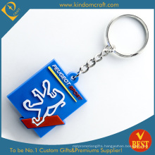 High Quality Customized Promotional Cheap 2 D Branded PVC Key Chain Series Product