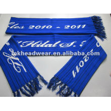Wholesale 100% acrylic machine jacquard logo football scarf fan scarf