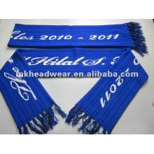 Wholesale 100% acrylic machine jacquard logo football scarf fan scarf